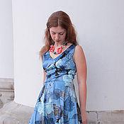 """Одежда ручной работы. Ярмарка Мастеров - ручная работа Новинка - Платье """"Синева"""". Handmade."""