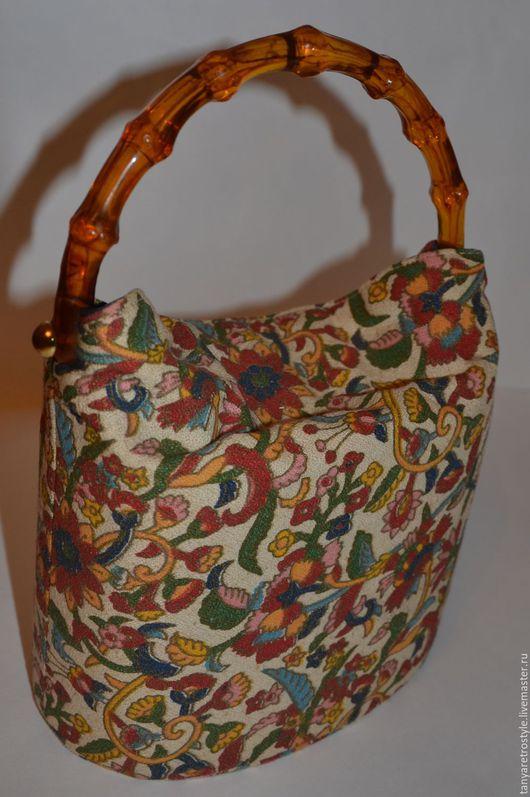 Винтажные сумки и кошельки. Ярмарка Мастеров - ручная работа. Купить Сумка. Handmade. Комбинированный, люцит, оригинальное украшение, текстиль