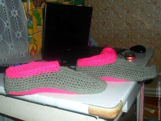 Обувь ручной работы. Ярмарка Мастеров - ручная работа. Купить Следки.Работа крючком.. Handmade. Рыжий, фиолетовый, любой цвет