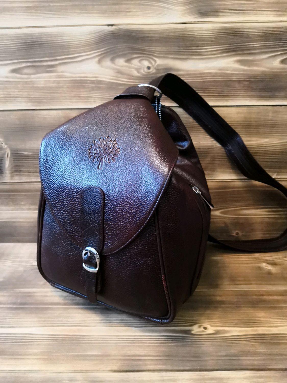 Дизайнерский рюкзак трансформер из натуральной кожи КРС, Рюкзаки, Уфа,  Фото №1
