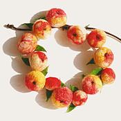 Украшения ручной работы. Ярмарка Мастеров - ручная работа браслет яблочки. Handmade.