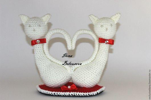 Подарки для влюбленных ручной работы. Ярмарка Мастеров - ручная работа. Купить Неразлучники. Handmade. Белый, коты и кошки, неразлучники, сердце