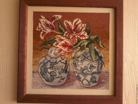 бордовые тюльпаны гжель