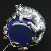 """Украшения ручной работы. Ярмарка Мастеров - ручная работа Кулон с опалом """"Наигралась.."""", серебро 925. Handmade."""