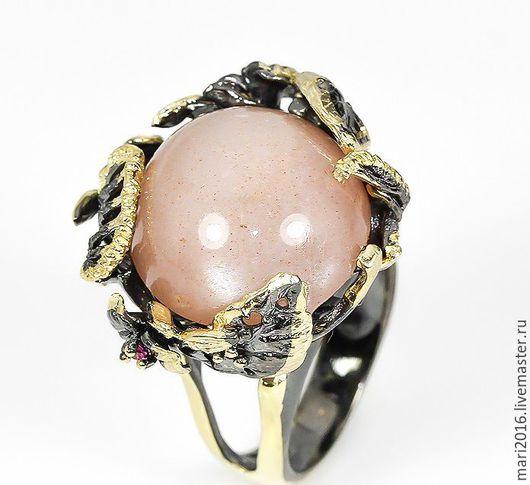 """Кольца ручной работы. Ярмарка Мастеров - ручная работа. Купить Стильное кольцо """" Элизабет"""" с розовым рубином в серебре 925 пробы. Handmade."""
