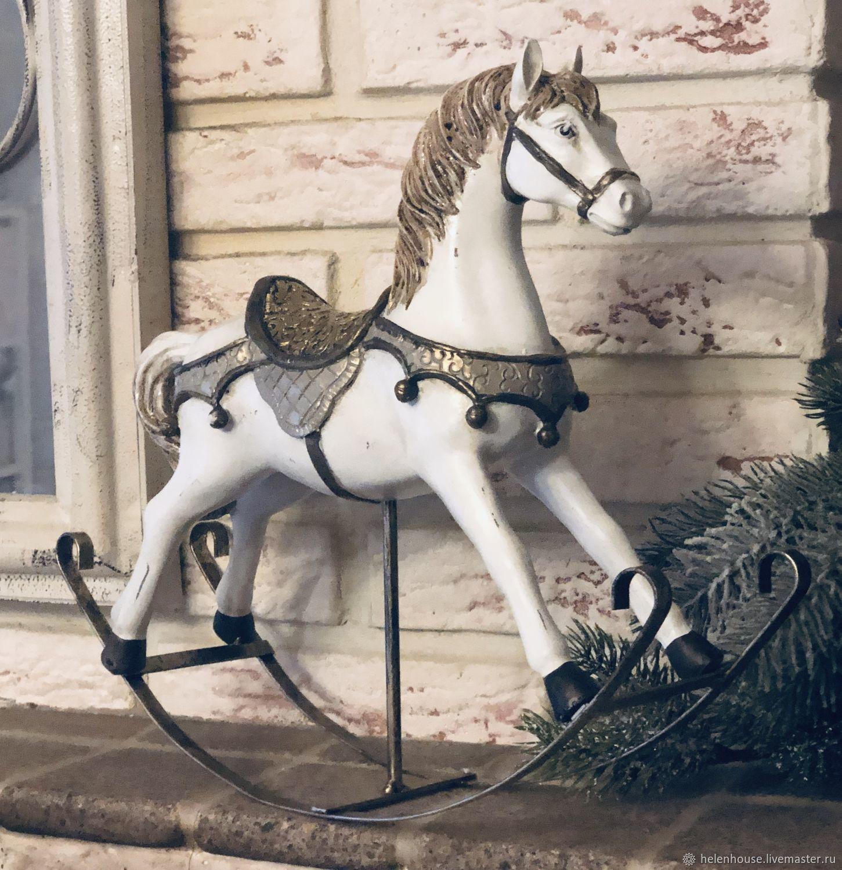 Большая лошадка-качалка, Аксессуары для кукол и игрушек, Москва,  Фото №1