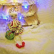 Куклы и игрушки ручной работы. Ярмарка Мастеров - ручная работа текстильная кукла Новогодняя Гномочка в светлом. Handmade.
