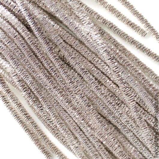 Для украшений ручной работы. Ярмарка Мастеров - ручная работа. Купить Трунцал 4-х гранный 3 мм, цвет Серебро, Индия. Handmade.