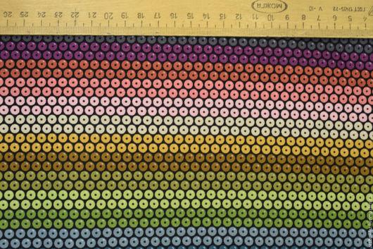 Шитье ручной работы. Ярмарка Мастеров - ручная работа. Купить Ткань для печворка разноцветные кружки. Handmade. Комбинированный, ткань для творчества