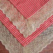 Для дома и интерьера handmade. Livemaster - original item Tablecloth gold striped. Handmade.