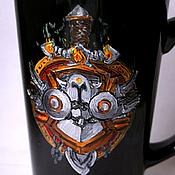 """Посуда ручной работы. Ярмарка Мастеров - ручная работа Черная кружка """"Орда"""" (World of Warcraft) (0827). Handmade."""