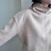 Одежда ручной работы. Ярмарка Мастеров - ручная работа Свитшот из вареной шерсти. Handmade.