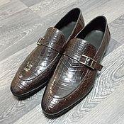 Обувь ручной работы handmade. Livemaster - original item Monki men`s crocodile leather, dark brown custom!. Handmade.