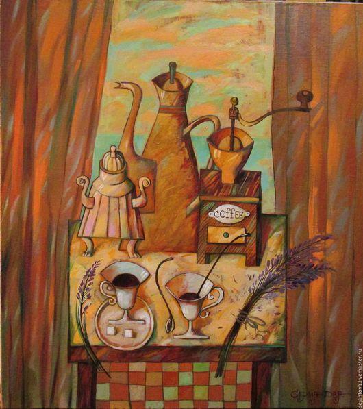 """Натюрморт ручной работы. Ярмарка Мастеров - ручная работа. Купить """"Лавандовый"""". Handmade. Бледно-розовый, картина маслом, натюрморт для кухни"""