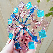 Подарки к праздникам handmade. Livemaster - original item Christmas home decor, Christmas decoration, snowflake glass. Handmade.