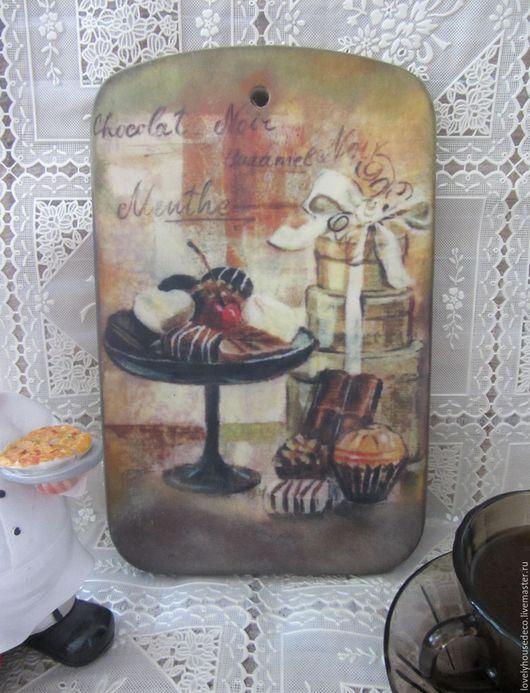 """Кухня ручной работы. Ярмарка Мастеров - ручная работа. Купить Разделочная досочка """"Вкусная"""". Handmade. Доска разделочная, подарок, берёза"""