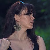 handmade. Livemaster - original item Hmong tribal earrings 3 models. Handmade.