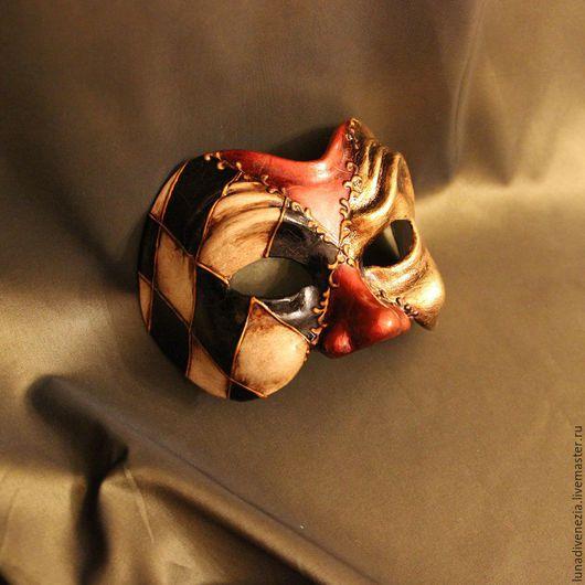 Карнавальные костюмы ручной работы. Ярмарка Мастеров - ручная работа. Купить Маска венецианская Арлекино Классико (костюмная). Handmade. Комбинированный