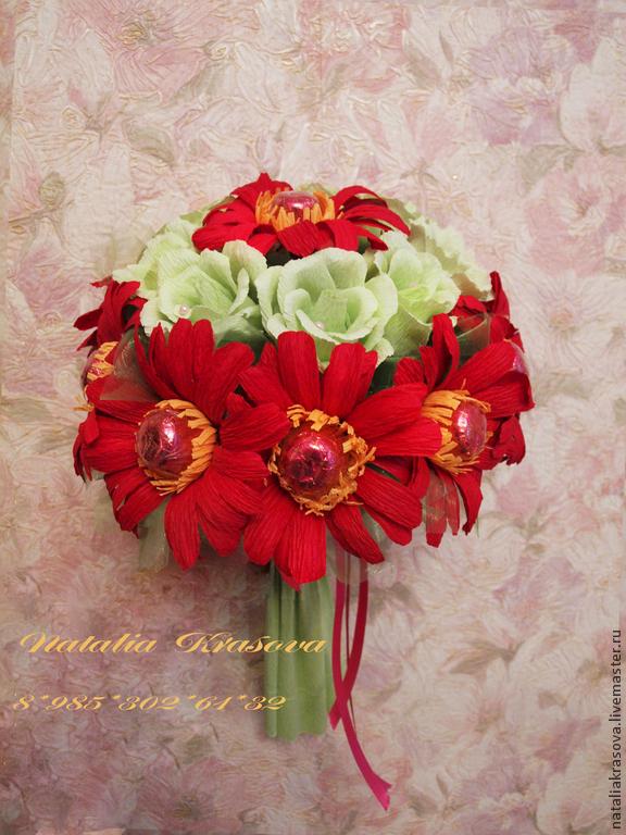 Праздничный букет из роз и ромашек своими руками #9