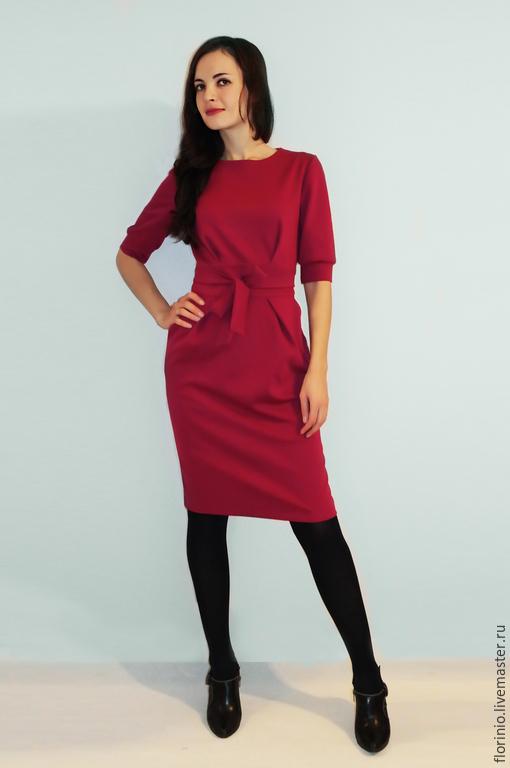 Платья ручной работы. Ярмарка Мастеров - ручная работа. Купить Платье Andrea. Handmade. Бордовый, малиновый цвет
