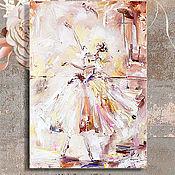 """Картины и панно handmade. Livemaster - original item РЕПРОДУКЦИЯ  """"Счастливый полет"""" 50/70 см холст накартоне. Handmade."""