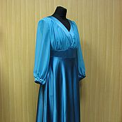 """Одежда ручной работы. Ярмарка Мастеров - ручная работа Вечернее платье """"Бирюзовое море"""". Handmade."""
