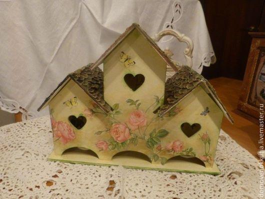 Кухня ручной работы. Ярмарка Мастеров - ручная работа. Купить чайный домик тройной Розы. Handmade. Бежевый, для интерьера