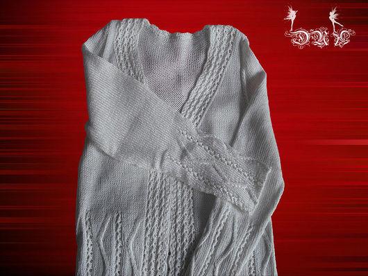 Кофты и свитера ручной работы. Ярмарка Мастеров - ручная работа. Купить Белый женственный  кардиган. Handmade. Белый, однотонный, вязание