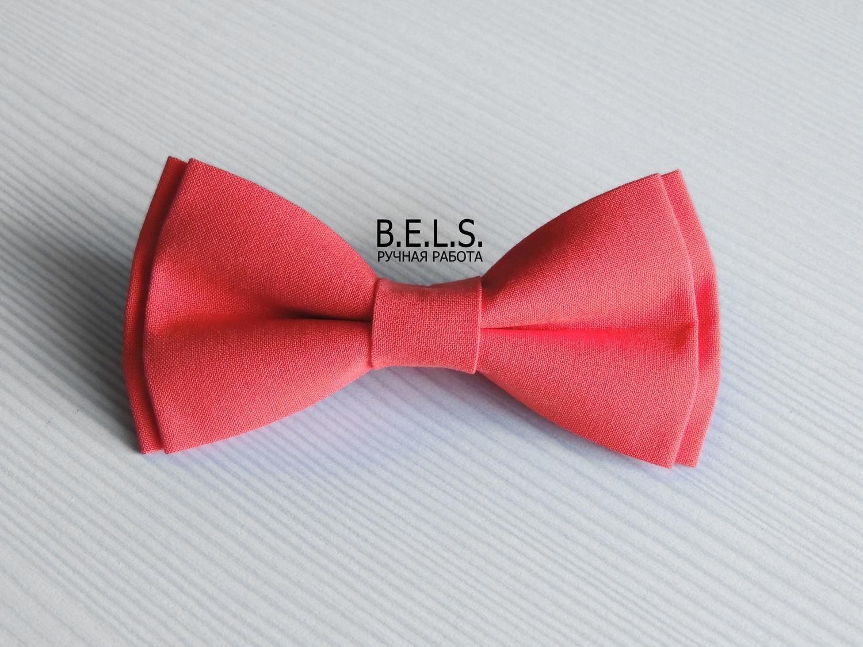 Бабочка галстук коралловая, Свадебные аксессуары, Оренбург,  Фото №1