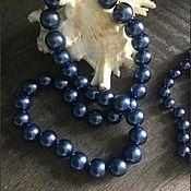Украшения handmade. Livemaster - original item Jewelry sets: Set of pearls dark blue (peacock). Handmade.