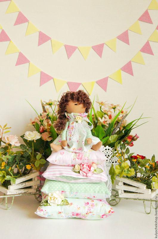 """Куклы Тильды ручной работы. Ярмарка Мастеров - ручная работа. Купить Маленькая принцесса """"Мята"""". Handmade. Мятный, кукла интерьерная"""