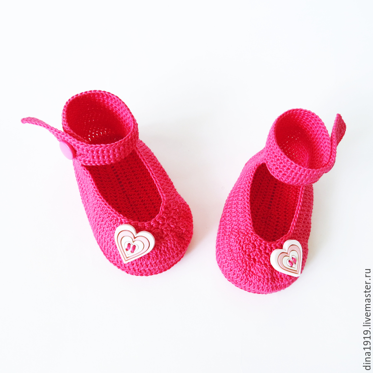 fb65a62bdbf95 booties knit, baby booties sandals for baby girl, pink, fuchsia – shop  online on Livemaster with shipping - 6HQENCOM | Cheboksary