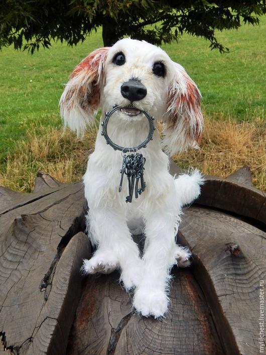 Игрушки животные, ручной работы. Ярмарка Мастеров - ручная работа. Купить Crochet realistic full size dog / pose-able stuffed soft sculpture. Handmade.