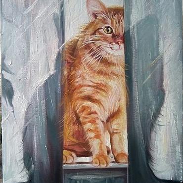 """Картины и панно ручной работы. Ярмарка Мастеров - ручная работа """"Рыжий взгляд"""". Handmade."""