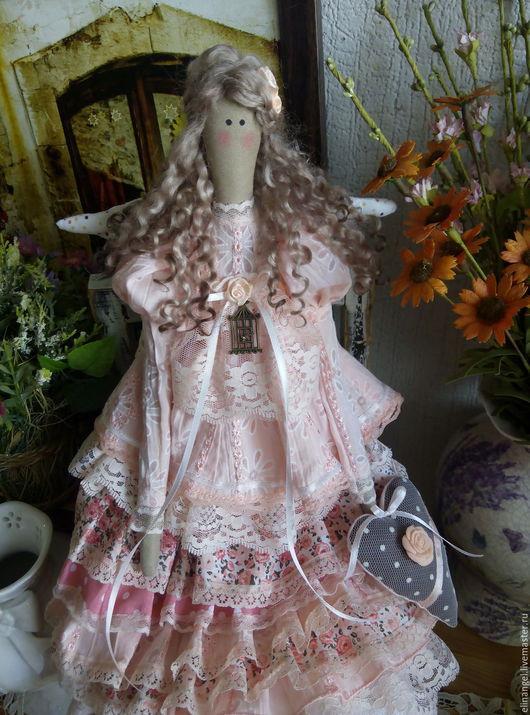 Куклы Тильды ручной работы. Ярмарка Мастеров - ручная работа. Купить Эрика текстильная кукла тильда. Handmade. Кукла, кружево