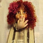 Для дома и интерьера ручной работы. Ярмарка Мастеров - ручная работа Текстильная кукла Рози, держатель для туалетной бумаги(мадам фу-фу). Handmade.