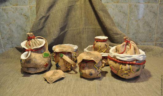 """Сервизы, чайные пары ручной работы. Ярмарка Мастеров - ручная работа. Купить Сервиз из керамики ручной работы """"Мешки"""". Handmade."""