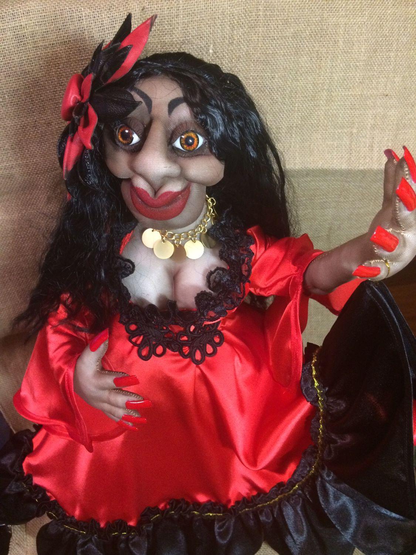 Кукла цыганка из капрона своими руками