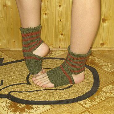 Accessories. Livemaster - original item Socks: Socks for yoga, gymnastics, dance without heels. Handmade.