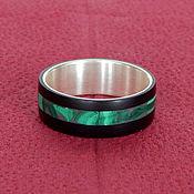 Украшения handmade. Livemaster - original item Silver ring with jade and malachite. Handmade.