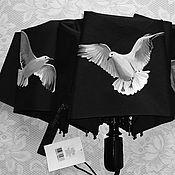 Аксессуары ручной работы. Ярмарка Мастеров - ручная работа Зонт с Чайками. Handmade.