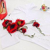 Одежда ручной работы. Ярмарка Мастеров - ручная работа - Маки-. Handmade.