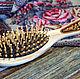 Украшения и аксессуары ручной работы. Заказать Массажная расческа с малахитом. Подарки на все случаи жизни (beresta-ural). Ярмарка Мастеров.