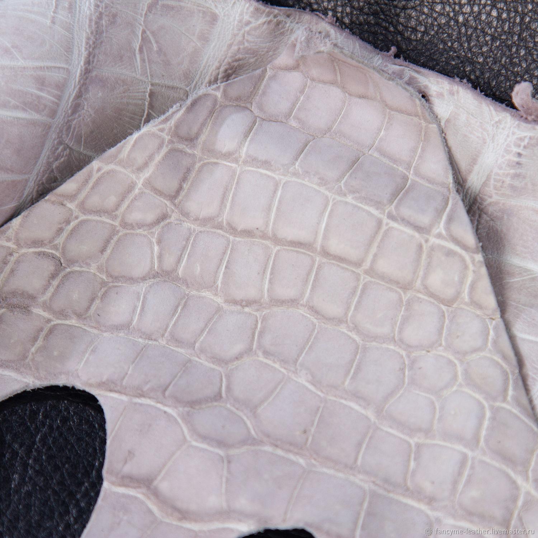 Лоскут кожа крокодила серая нубук, Кожа, Москва,  Фото №1