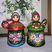 Русский стиль handmade. Livemaster - original item Sugar bowl wooden
