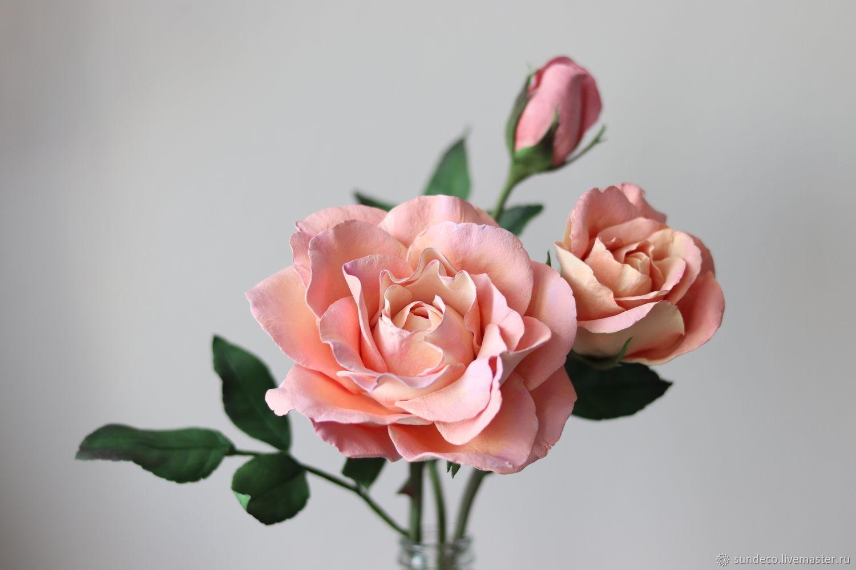 Цветы ручной работы. Ярмарка Мастеров - ручная работа. Купить Цветы: Садовая роза из полимерной глины. Handmade. Роза