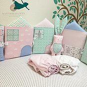 Грызунки ручной работы. Ярмарка Мастеров - ручная работа Бортики домики подушки. Handmade.