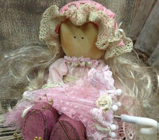 Ароматизированные куклы ручной работы. Ярмарка Мастеров - ручная работа. Купить Кукла текстильная интерьерная. Handmade. Бледно-розовый