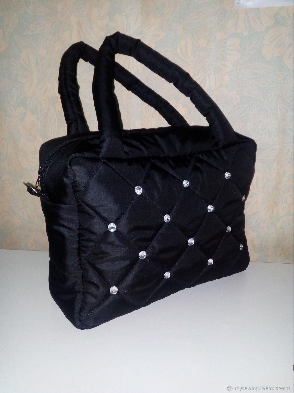 1910aaaf63c9 Женские сумки ручной работы. Ярмарка Мастеров - ручная работа. Купить Дутая  сумка со стразами ...