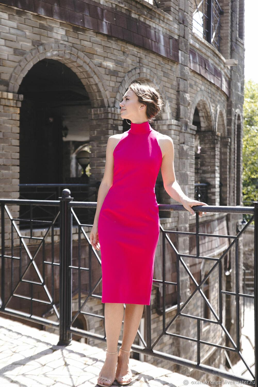 Платье-водолазка без рукавов розовое, Платья, Москва,  Фото №1